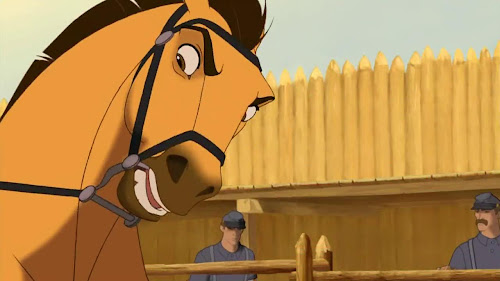Screen Shot Of Hollywood Movie Spirit Stallion of the Cimarron (2002) In Hindi English Full Movie Free Download And Watch Online at worldfree4u.com