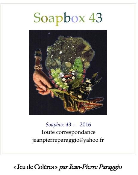 Œuvres Jean-Pierre PARAGGIO, SOAPBOX 43, FEUILLET de L'UMBO