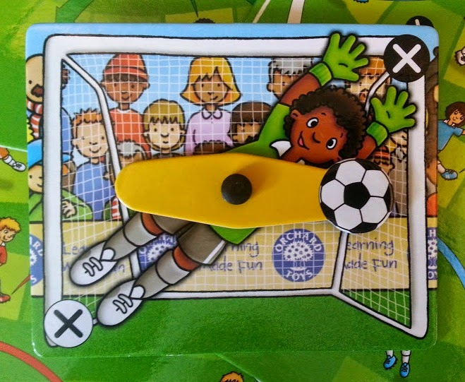 Orchard Toys Football Game for children aged 5+ how to score a goal