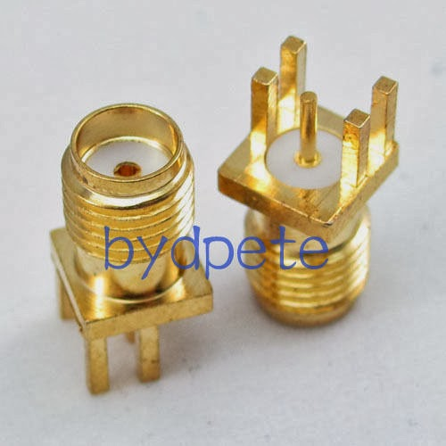 SMA female pin jack 0.62'' socket PCB Edge Mount Solder RF Connetor Adapter