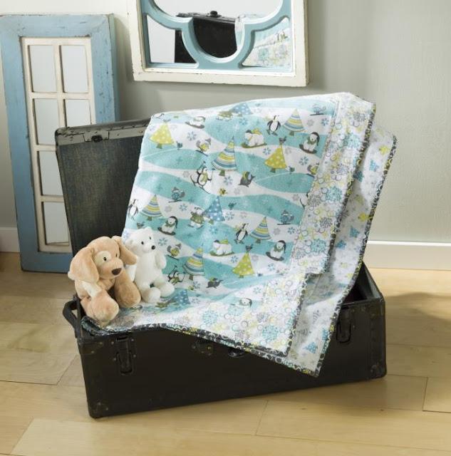 Novelty Winter Flannel Quilt @craftsavy, #craftwarehouse, #flannel, #quilt
