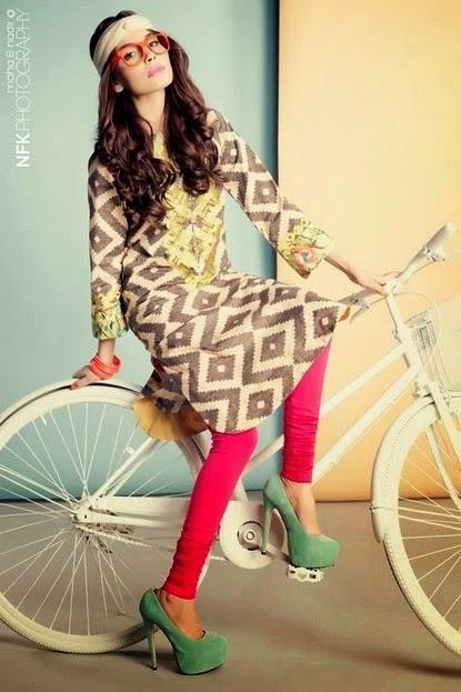 Zara Shahjahan Kurti with Jeans