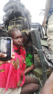 Picture of the day: Female suicide bomber nabbed after failed suicide attempt in Cameroon