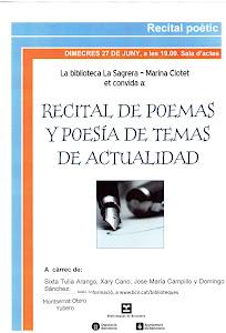 CARTEL de Recital en Biblioteca Sagrera