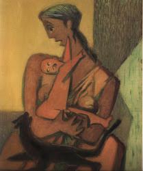Mujer, Niño y Gato1982