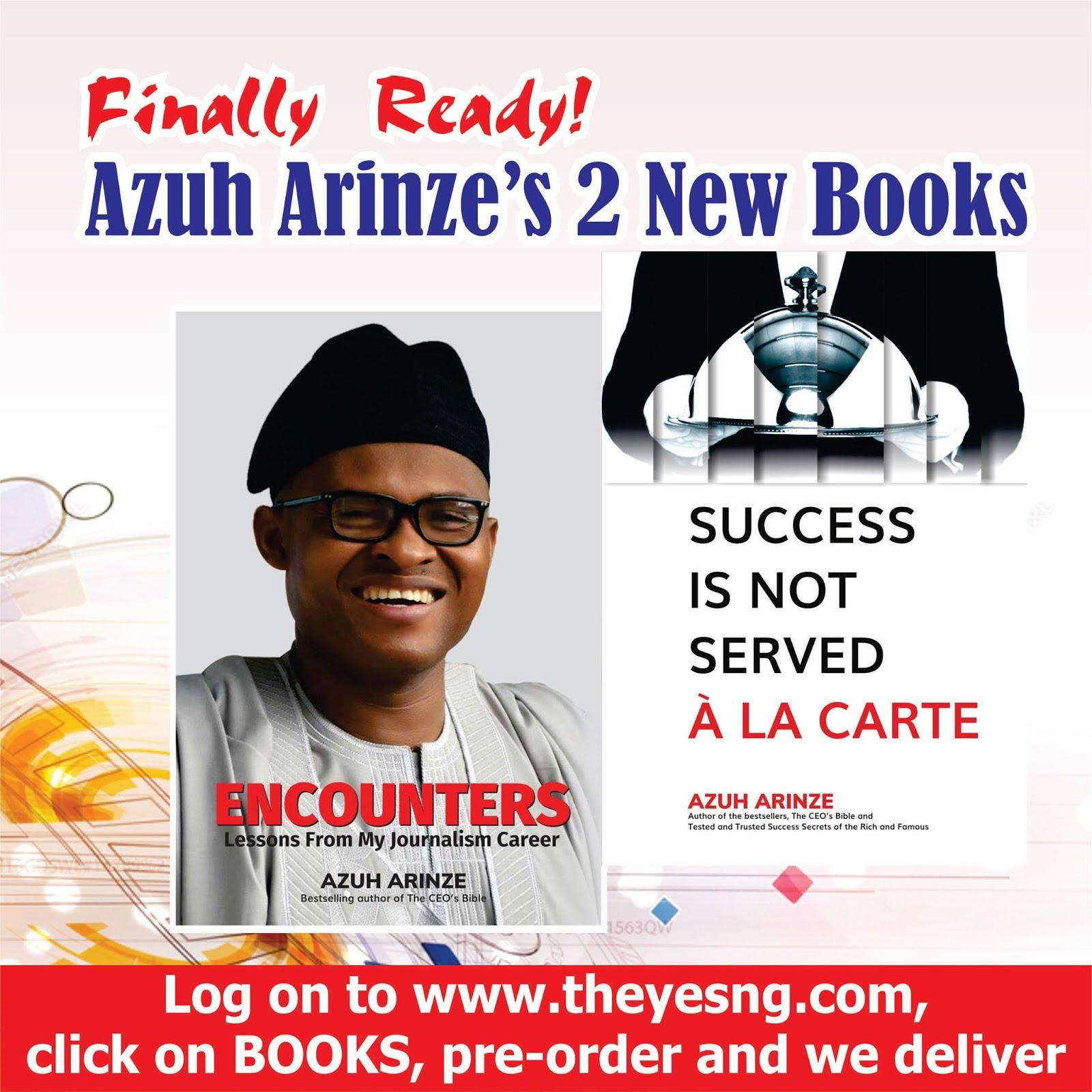 Get Azuh Arinze's Books Here!