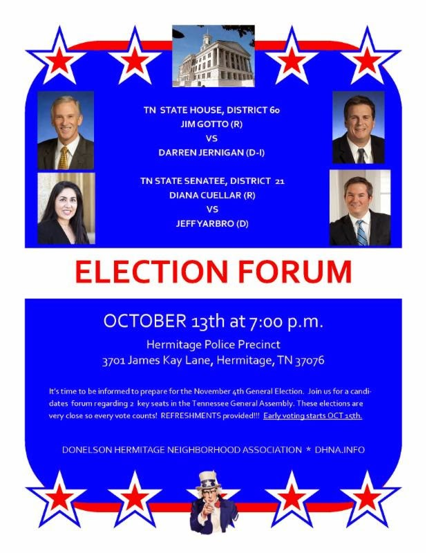 Election Forum: State House 60, State Senate 21