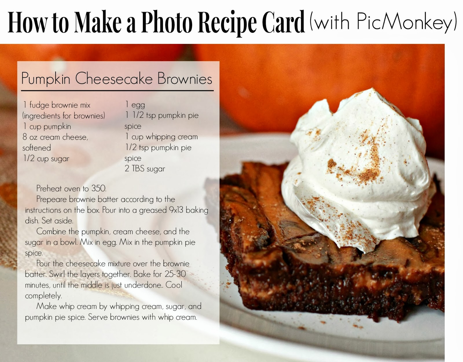 how to make photo recipe card with picmonkey