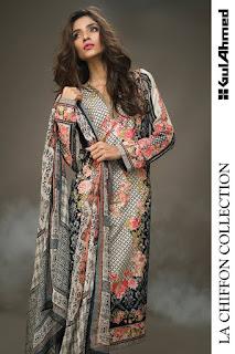 La Chiffon Gul Ahmed Dresses 2016
