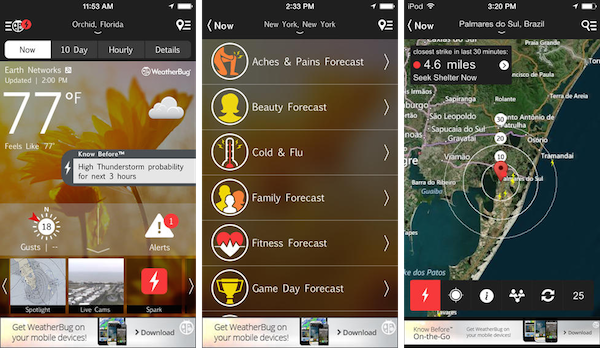 Weather Bug iphone app download