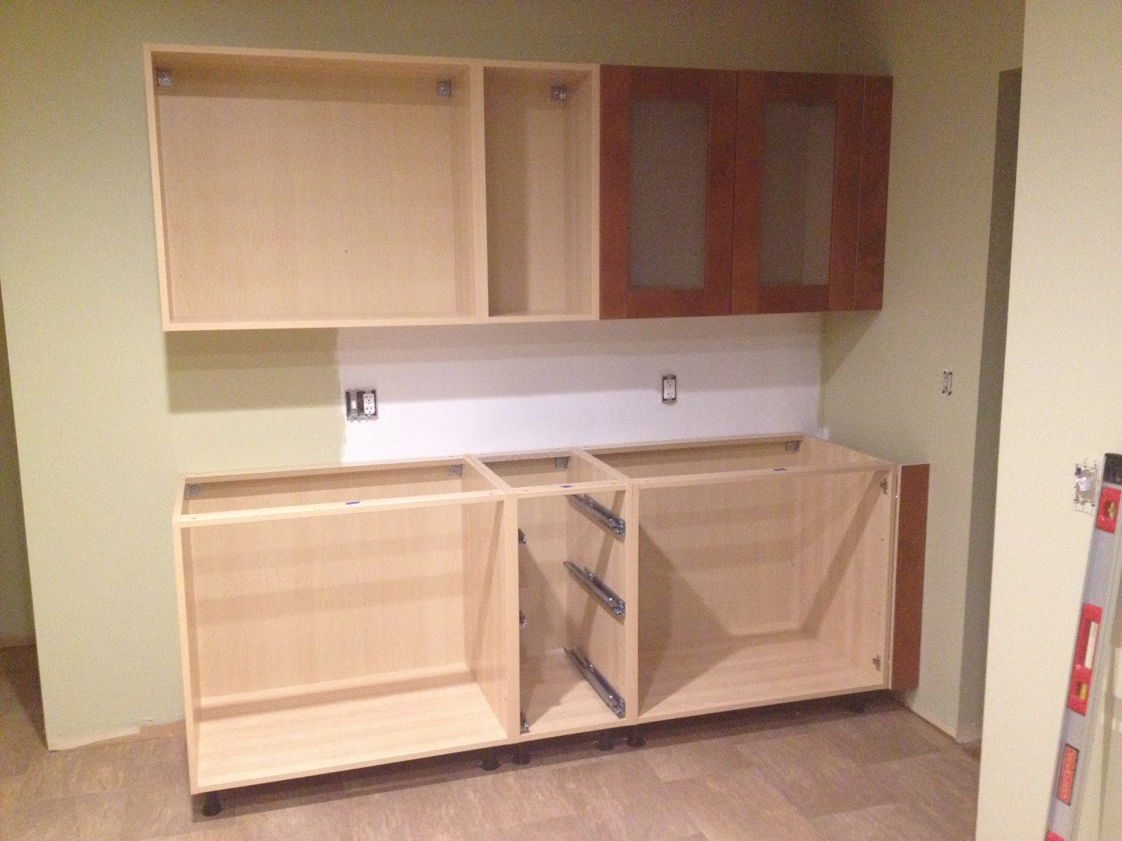 Our IKEA Kitchen First Cabinet Installation