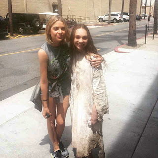 Ashley Benson and Maddie Ziegler PLL BTS