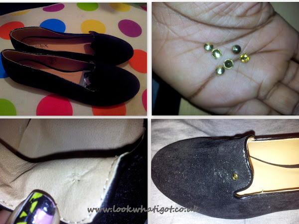 Look What I Made:001 D.I.Y Studded Loafers(Topshop Vectra Style)