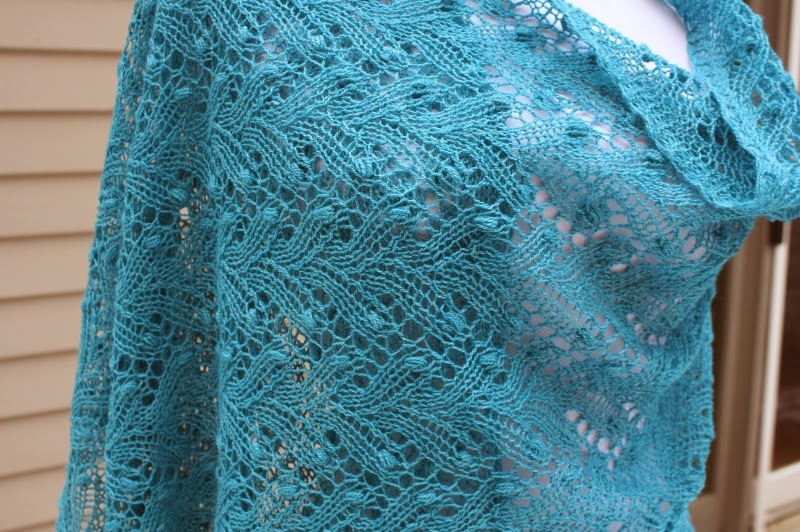 Free Knitted Lace Patterns : All Knitted Lace: January Estonian Lace Shawl - pattern