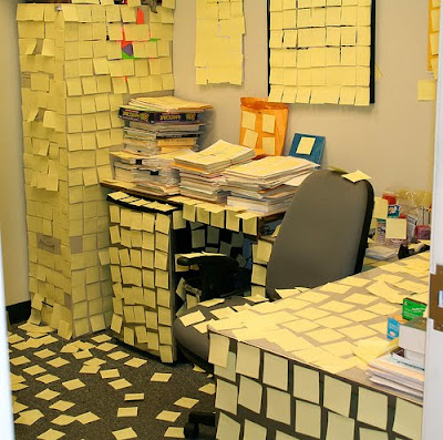 office prank 14 Funny Pictures: 30 Great Office Pranks.