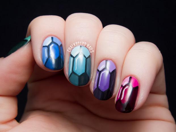 tutorial precious gems nail art