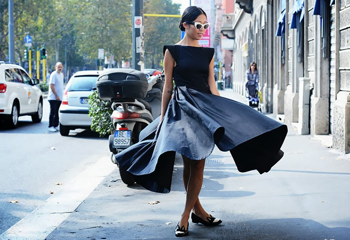 street style fashion week spring 2014, total black