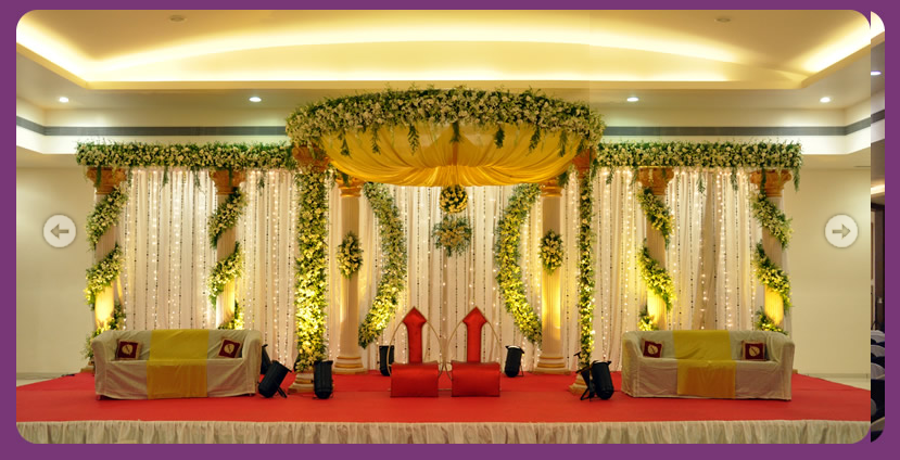 A wedding planner indian wedding and reception stage for Marriage decoration photos