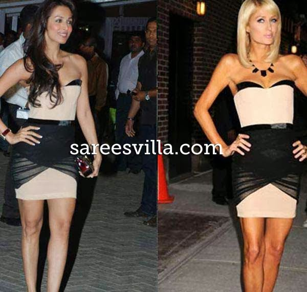 Malaika Arora Khan and Paris Hilton in same outfit