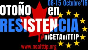15 octubre Manifestación No al CETA TTIP