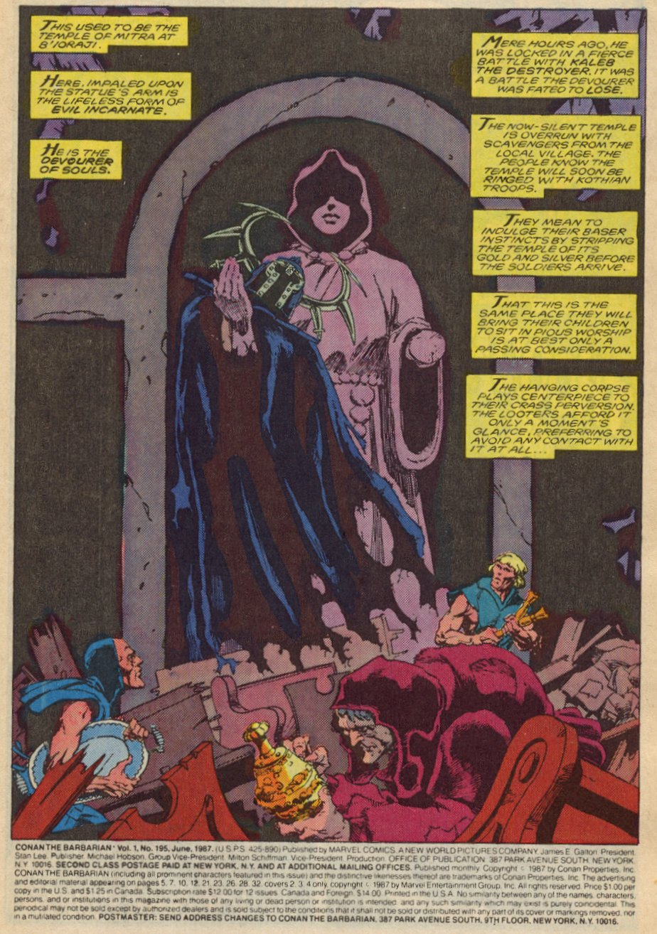 Conan the Barbarian (1970) Issue #195 #207 - English 4