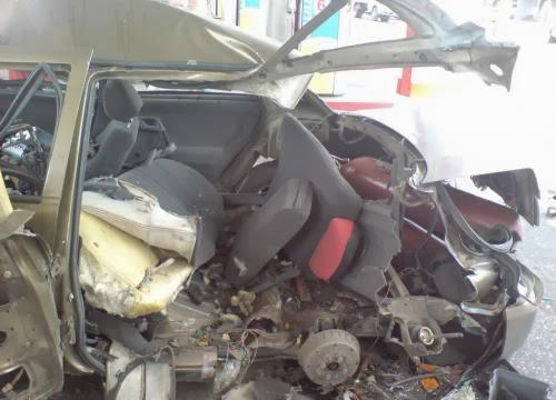 Результат взрыва транспортного средства из-за неправильного установления ГБО