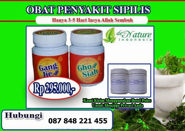 Obat Sipilis Alami Herbal Yang Paling Manjur