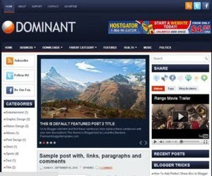 Dominant Blogger Template