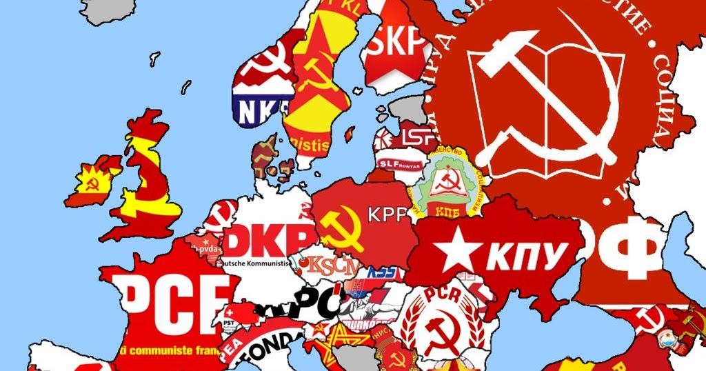 LINGUAGEM GEOGRÁFICA: PARTIDOS COMUNISTAS NA EUROPA ATUALMENTE
