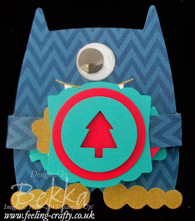 Christmas Hugs - Monster Hugs Christmas Banner Card by UK Stampin' Up! Demonstrator Bekka Prideaux - check out her blog!