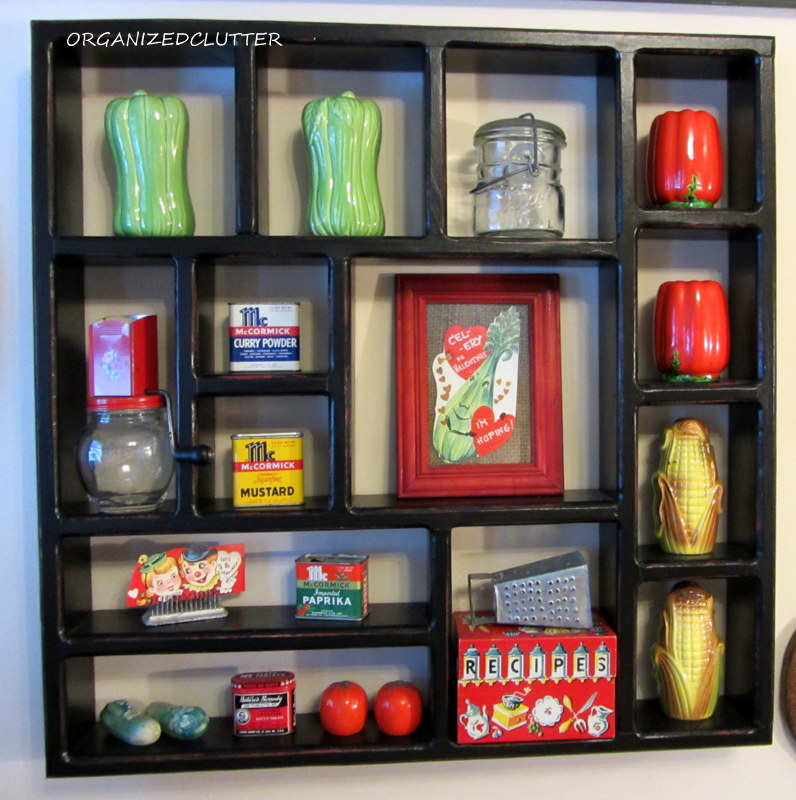 A new kitchen wall display organized clutter - Salt and pepper shaker display case ...