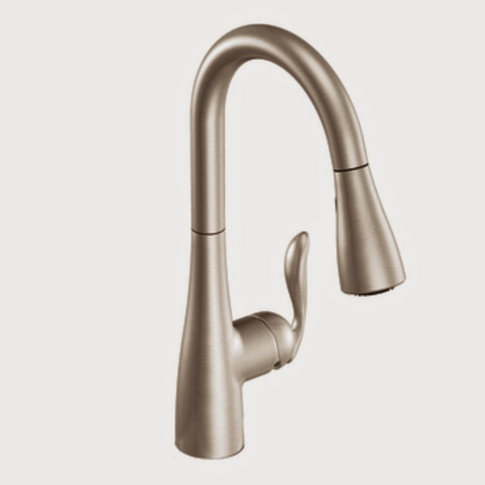 Moen 7594SRS Arbor One-Handle High Arc Pulldown Kitchen Faucet ...