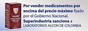COLOMBIA: Superindustria sanciona a LABORATORIOS ALCON DE COLOMBIA