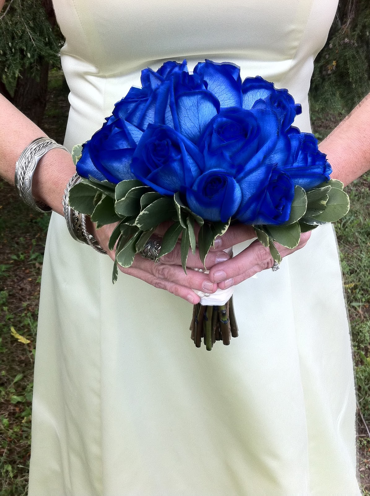 The Enchanted Petal Beautiful In Blue Bridal Bouquet