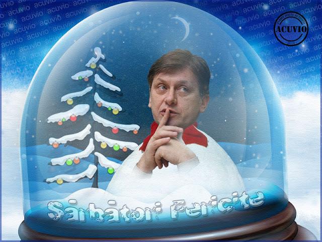 Funny postcard Crin Antonescu Glob cristal