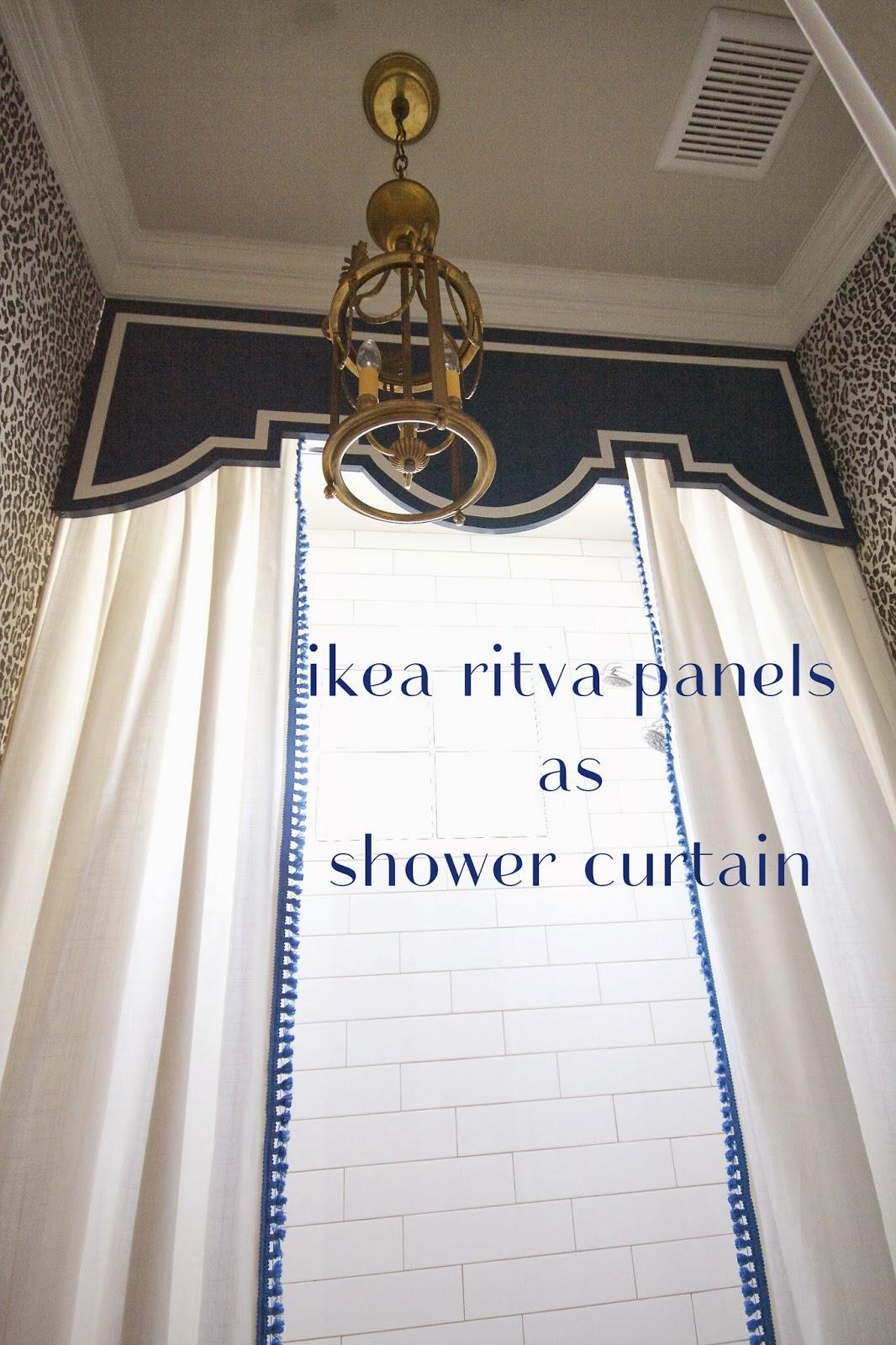 Design Dump Adding Trim To Ikea Panels Custom Shower Curtain Project