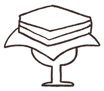 菱餅のイラスト(ひな祭り)線画