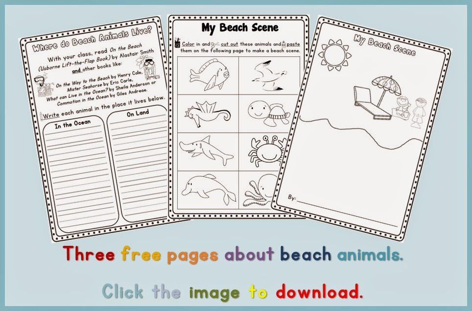 FREE sea animal writing pages Clever Classroom