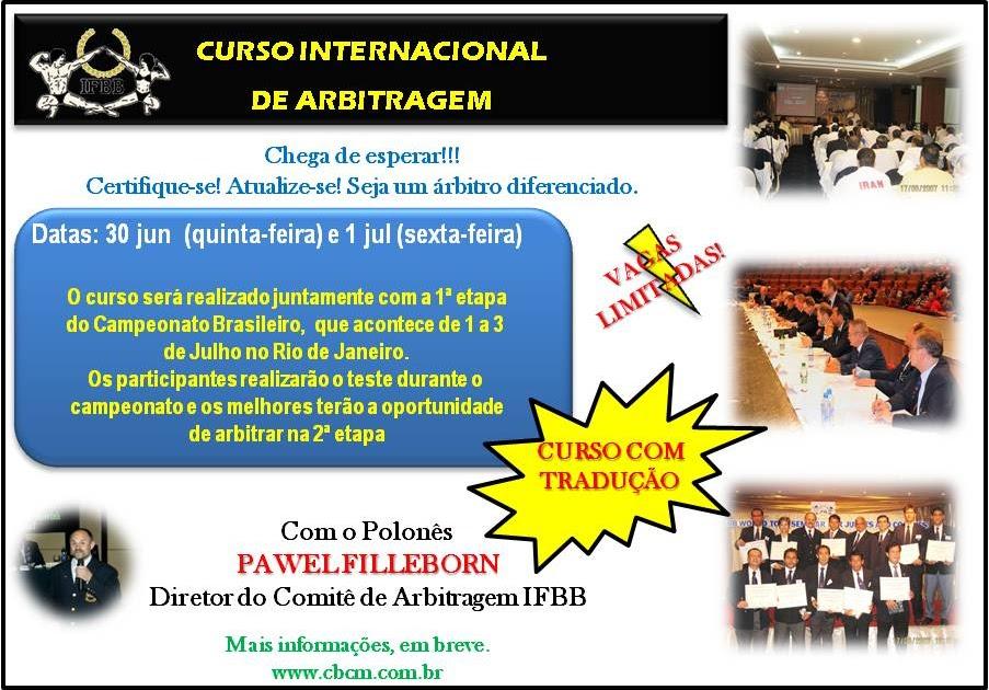 C.S.F.F.: Curso Internacional de Jueces - I.F.B.B.