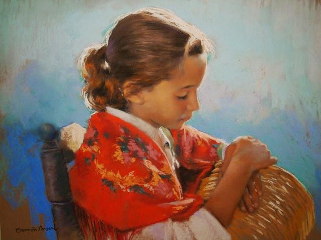 retratos-de-niñas-hechos-con-pastel