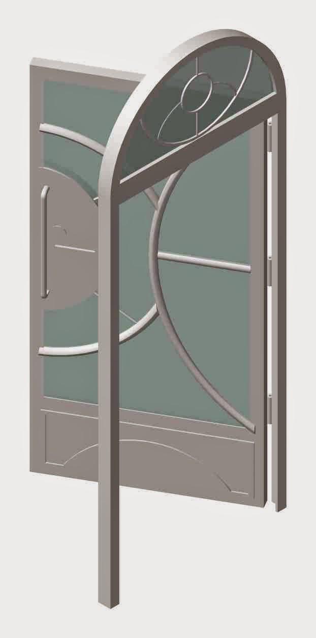 Escultura arquitectura 2015 dise os de puertas modernas for Puertas de metal con diseno