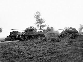 Sherman Firefly tank of the Irish Guards Group