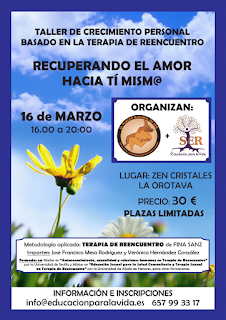 Taller Vivencial: Recuperando el Amor hacia ti mism@ 16 Marzo en Zen Cristales