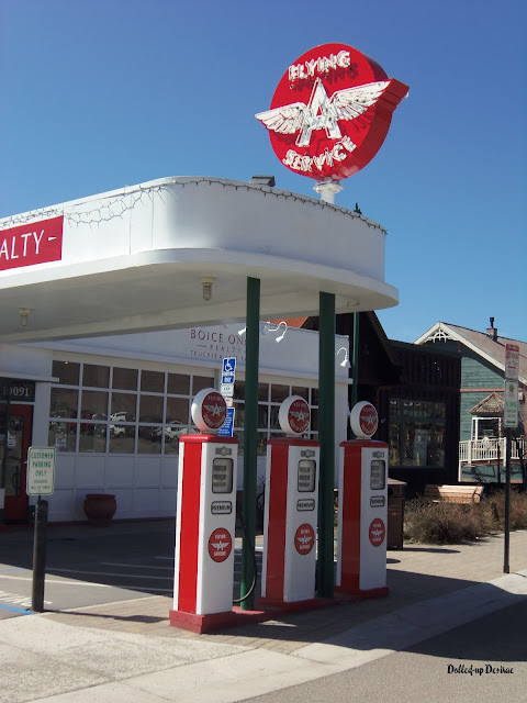 old gas station, vintage, truckee, california, oldtown