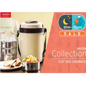 PayTM : Buy Milton Products with 51% Cashback on Rs. 599 only