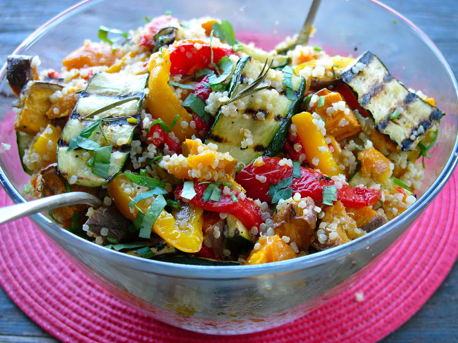Organic Passion: Simple roast vegetable quinoa salad with char grilled ...