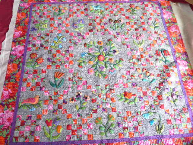 Sewing & Quilt Gallery: Wonderful Wool Applique Quilt : how to do applique on quilts - Adamdwight.com