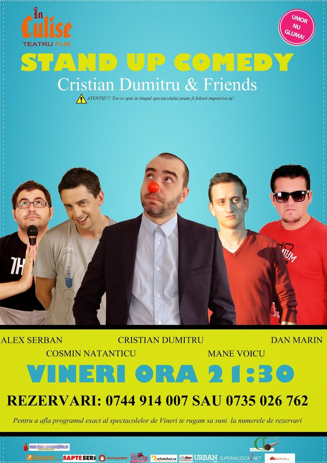 stand-up comedy vineri bucuresti