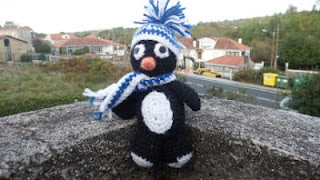 Pinguino amigurumi de ganchillo o crochet