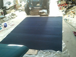 New piece of carpet for the Volvo Amazon